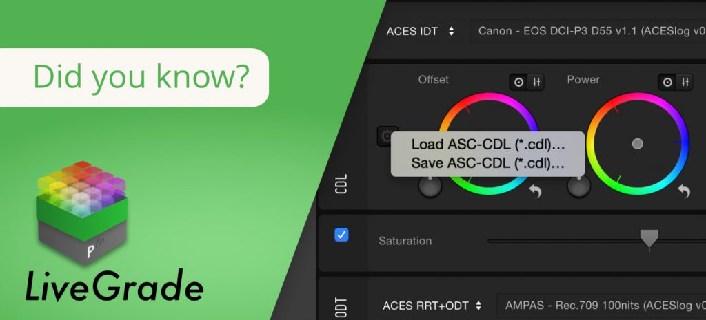 A More Flexible Way to Load and Save ASC-CDL Files