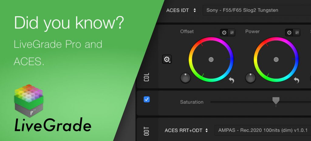 Use LiveGrade Pro in ACES Workflows