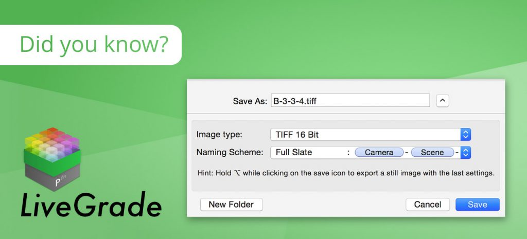 Easily Save Image Files from Captured Live Signals