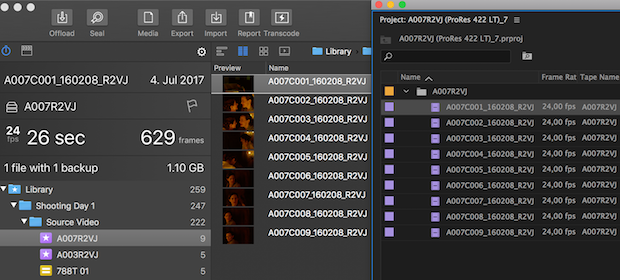 Easily Transfer Clips and Metadata from Silverstack to Adobe Premiere Pro