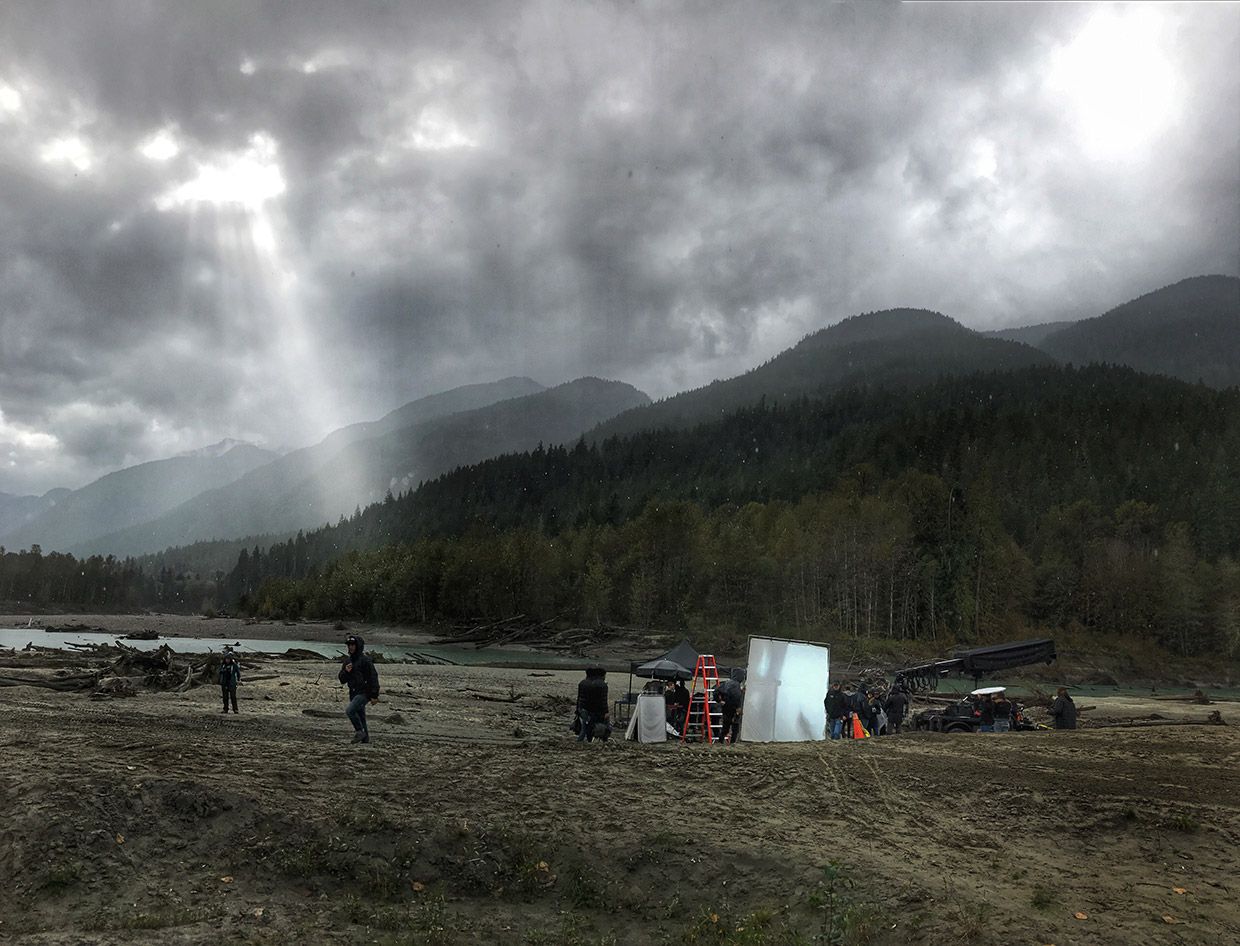 Shooting 'The 100' in challenging weather conditions