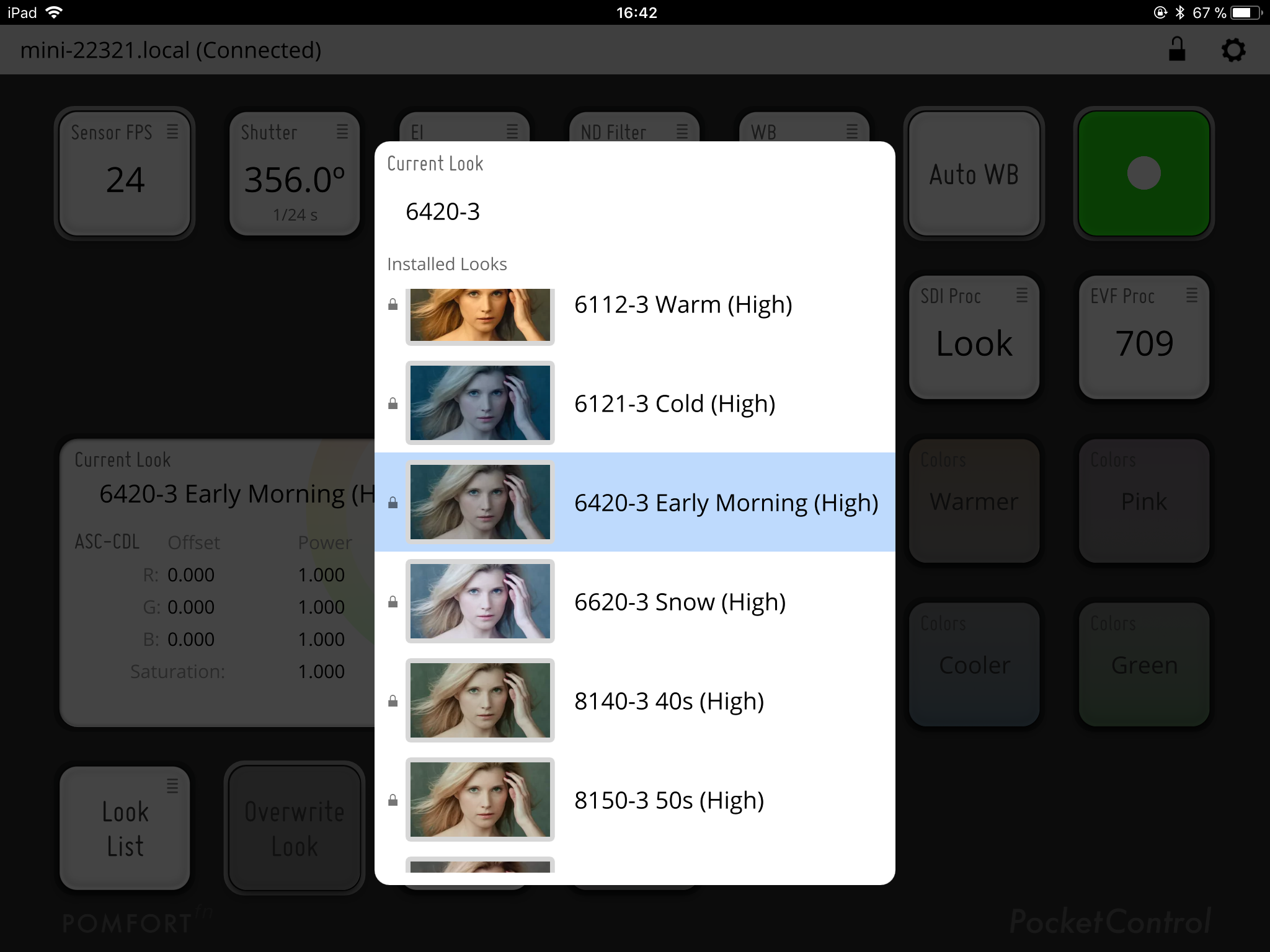 PocketControl: Apply and Refine Looks from the ARRI Look Library