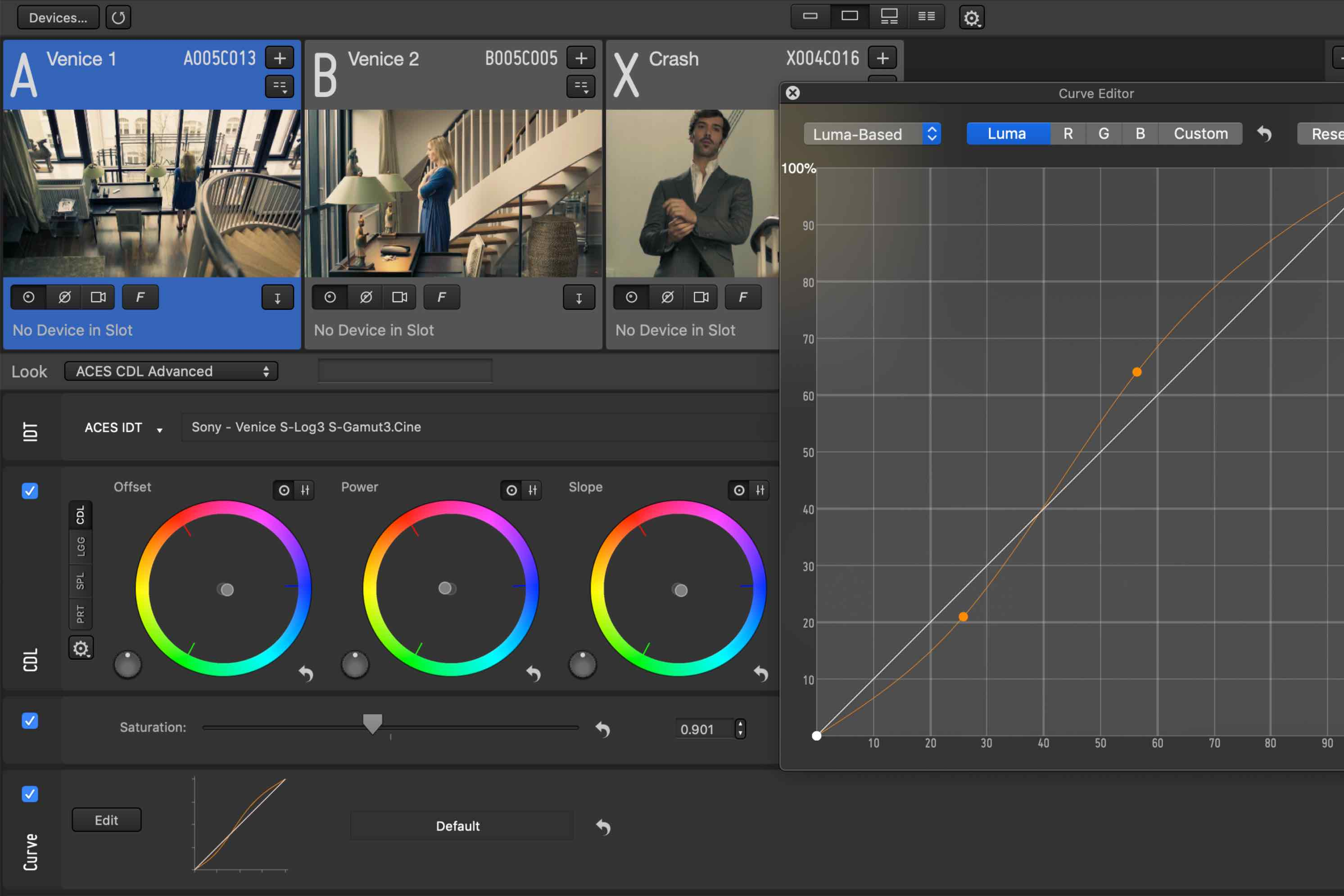 Interactive Color Grading