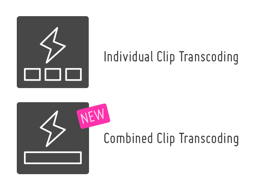 Combined Clip Transcoding