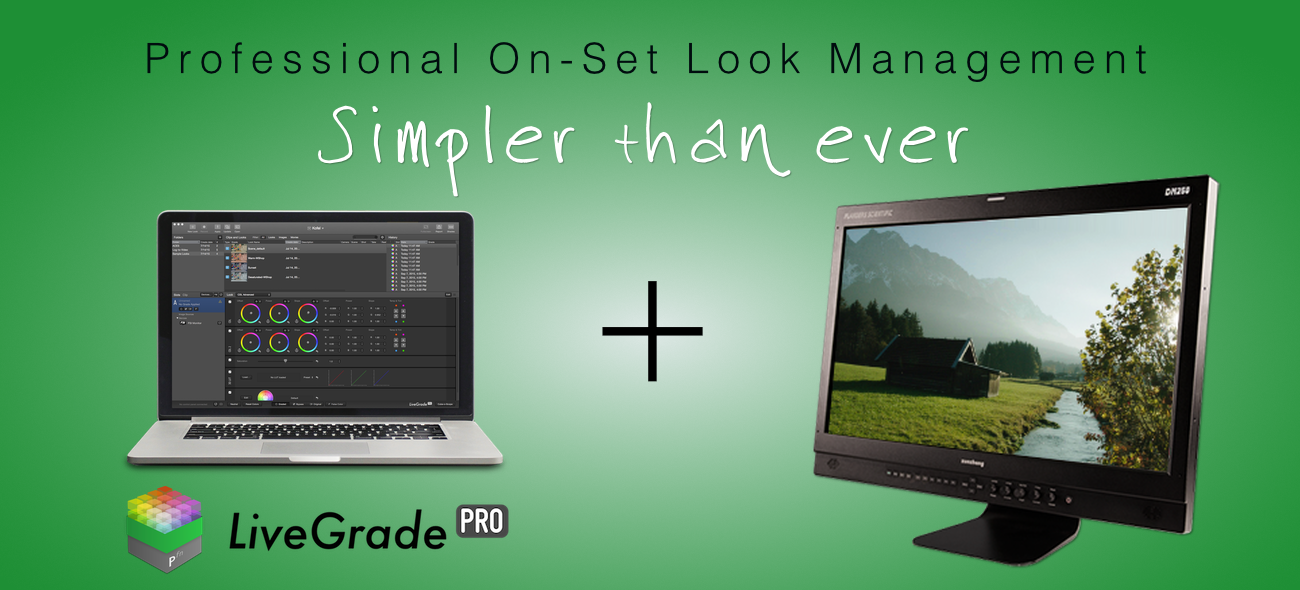 LiveGrade Pro supports FSI DM250 OLED monitor