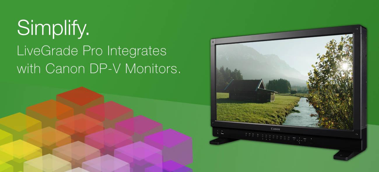 New: LiveGrade Pro Now Supports Canon Monitors