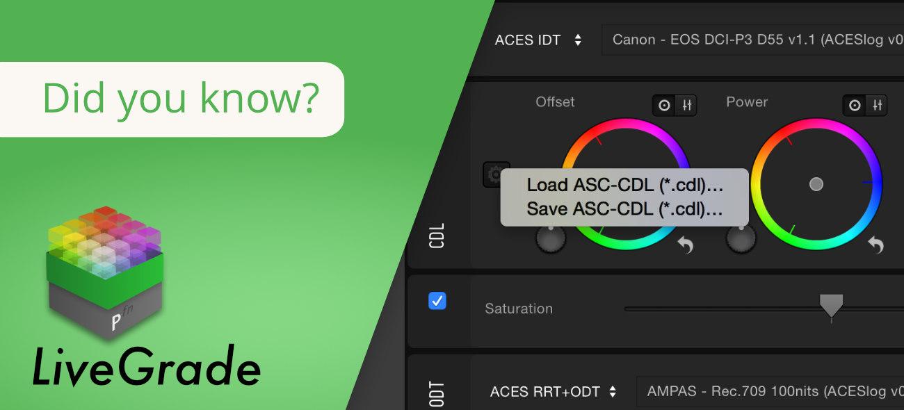 Flexible Loading & Saving of ASC-CDL Files