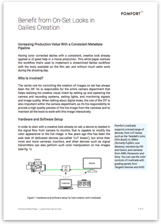 Whitepaper: Benefit from On-Set Looks in Dailies Creation