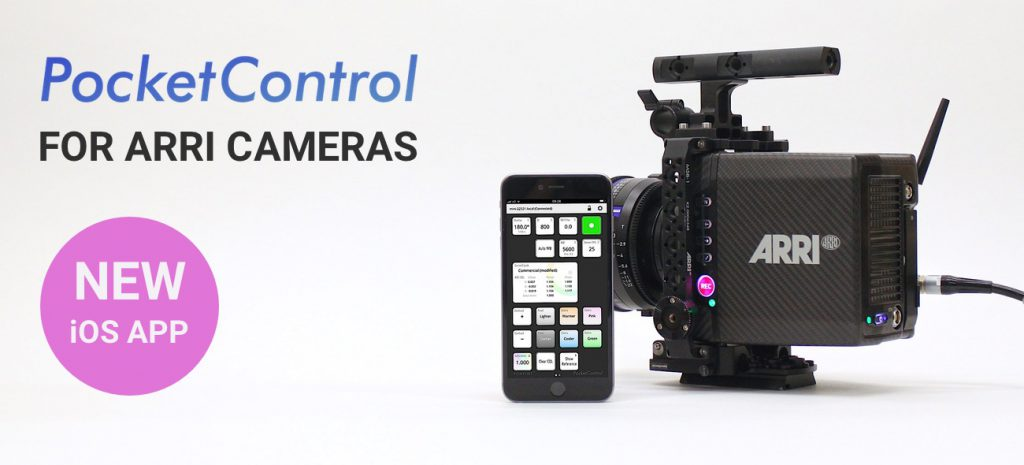 PocketControl: Monitor and adjust camera settings of the ARRI Alexa Mini and Amira