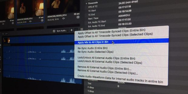 The Right Audio for your Dailies: How to Create Proxies with Different Audio Settings