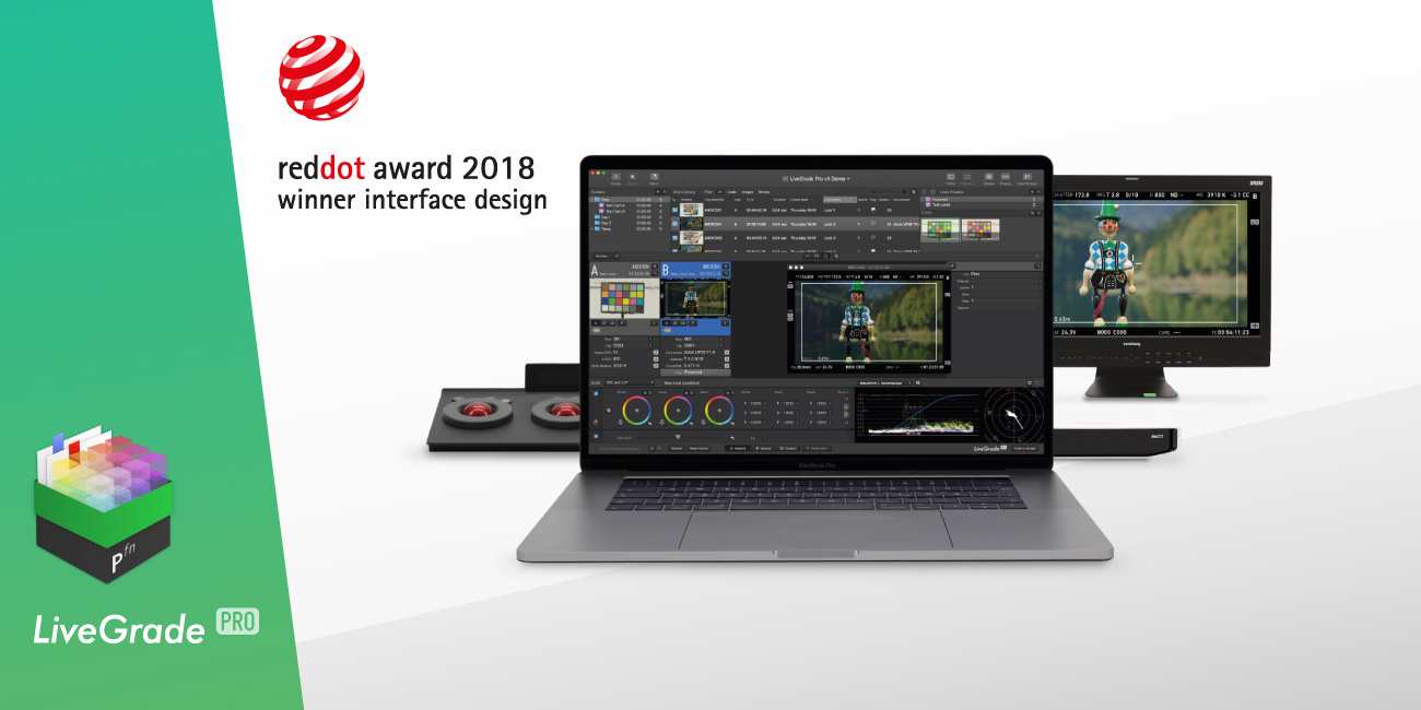 LiveGrade Pro Awarded Red Dot For High Design Quality