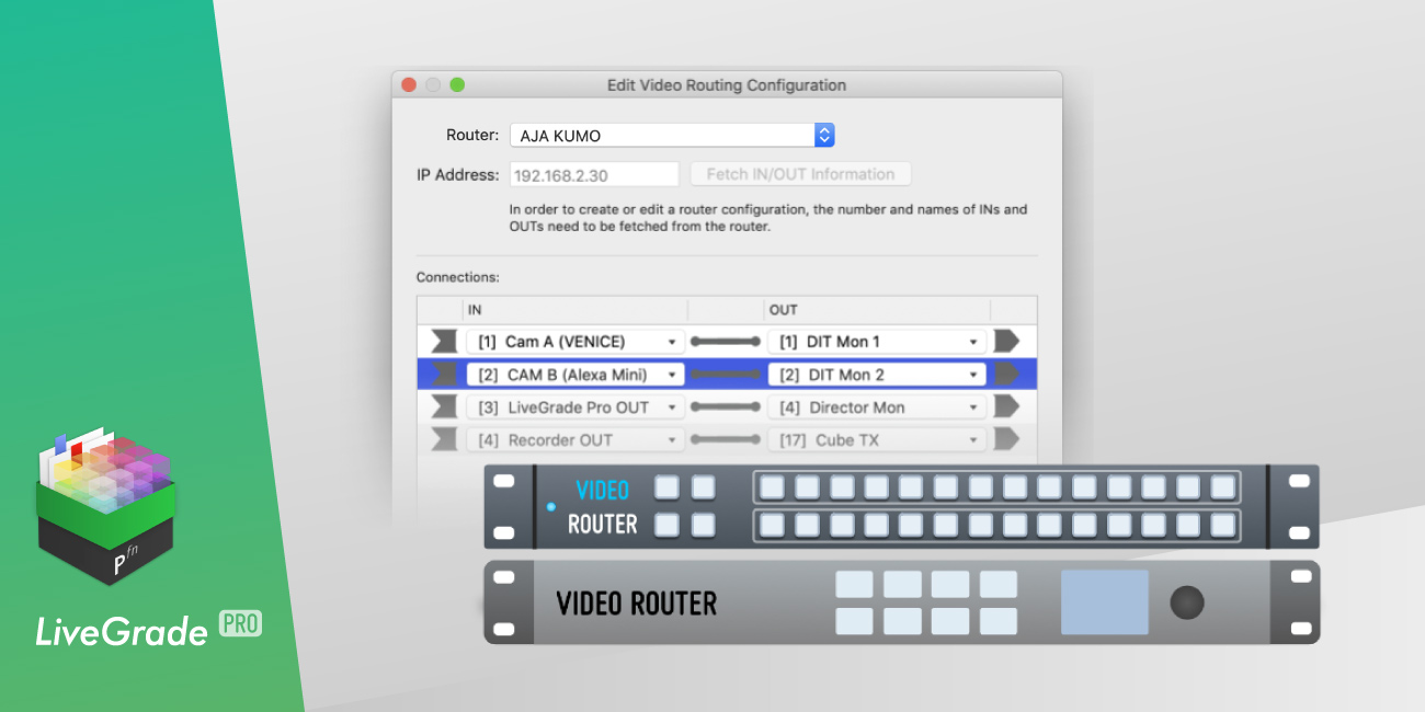 LiveGrade Pro 4.4 With AJA Kumo Support Released