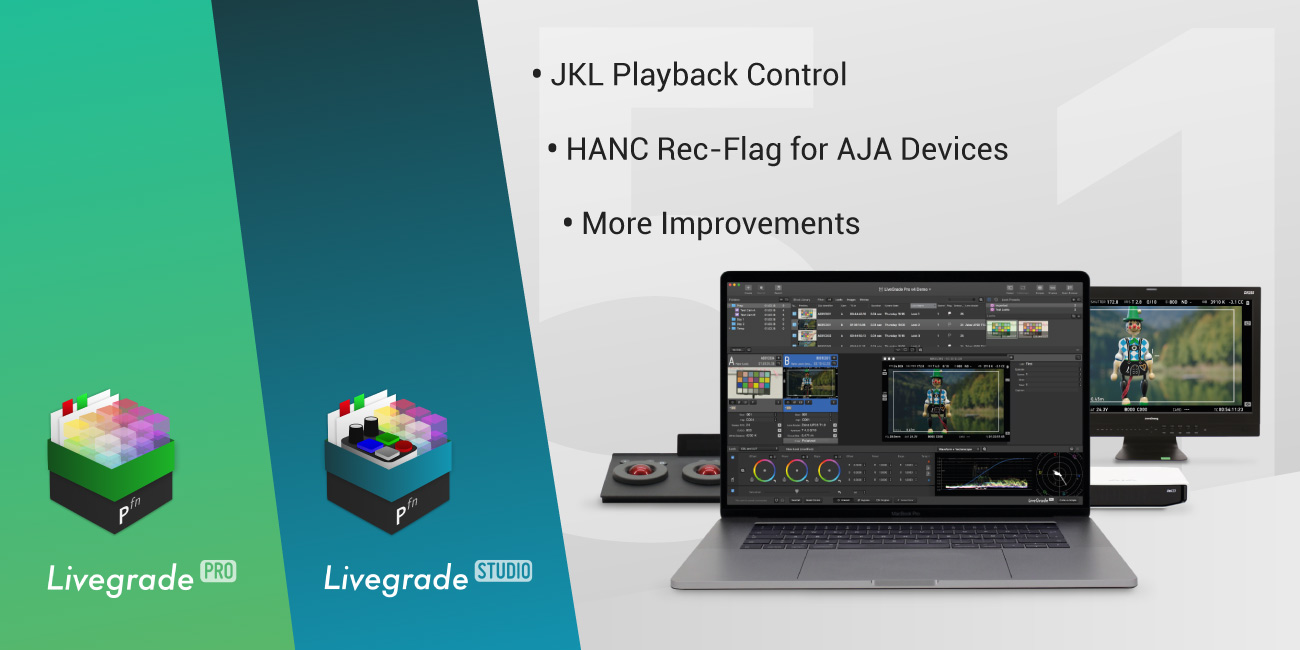 Version 5.1 of Livegrade Pro and Studio Released