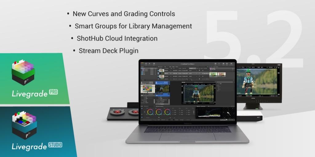 Version 5.2 of Livegrade Pro and Studio Released