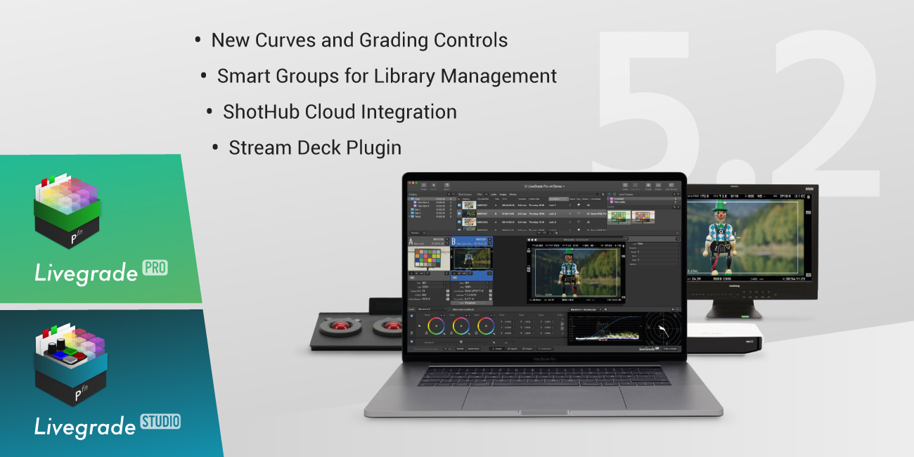Version 5.2 of Livegrade Pro and Studio Released