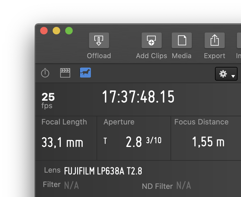 Dynamic Metadata: Camera and Lens information for each Frame
